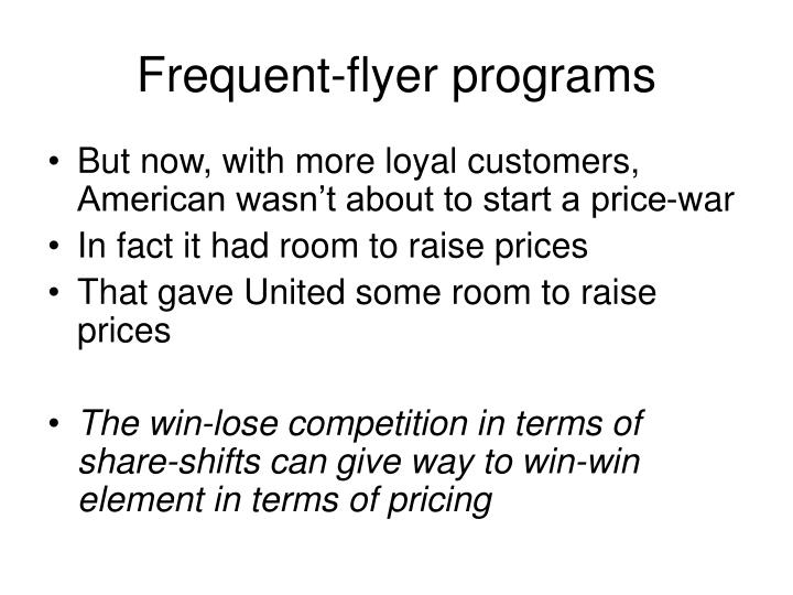 Frequent-flyer programs