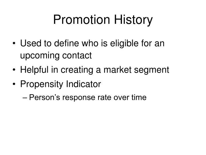 Promotion History