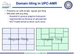 domain tiling in upc amr