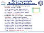 ghost region analysis regular tiling 4 ghost zones