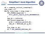 simplified 1 level algorithm
