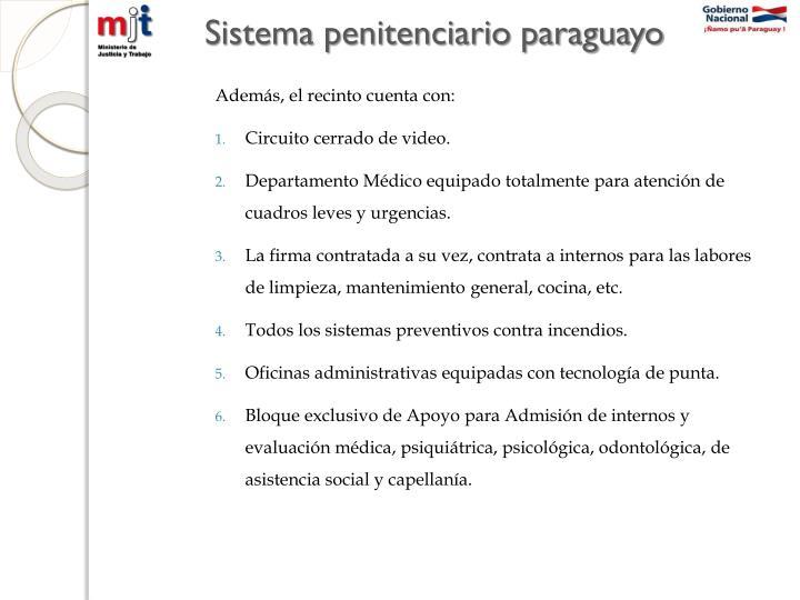 Sistema penitenciario paraguayo