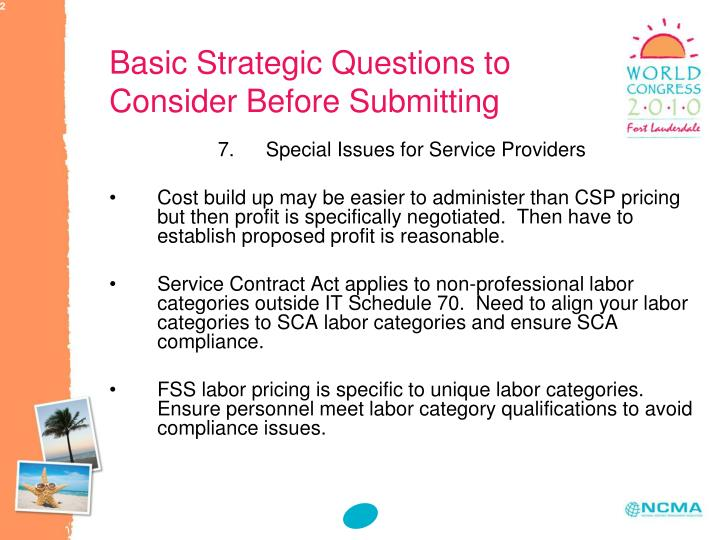 Basic Strategic Questions to Consider Before Submitting