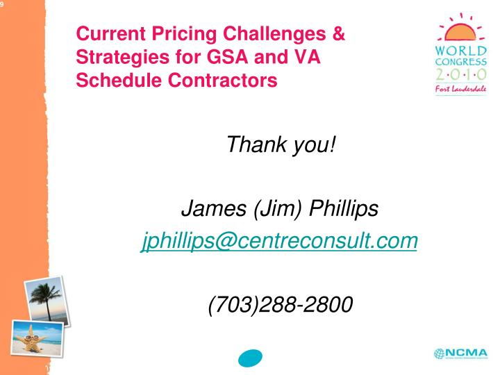 Current Pricing Challenges & Strategies for GSA and VA Schedule Contractors