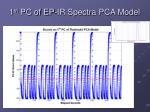1 st pc of ep ir spectra pca model