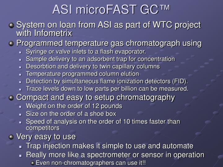 ASI microFAST GC
