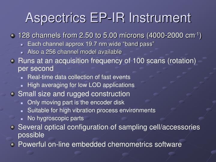 Aspectrics EP-IR Instrument