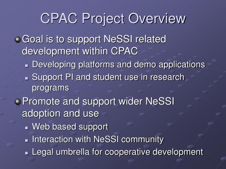 CPAC Project Overview