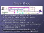 dilution flows