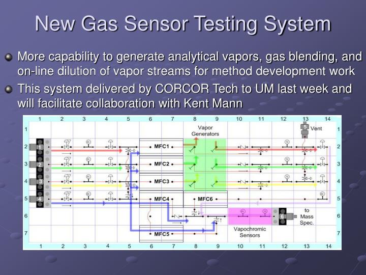 New Gas Sensor Testing System