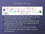 system flows