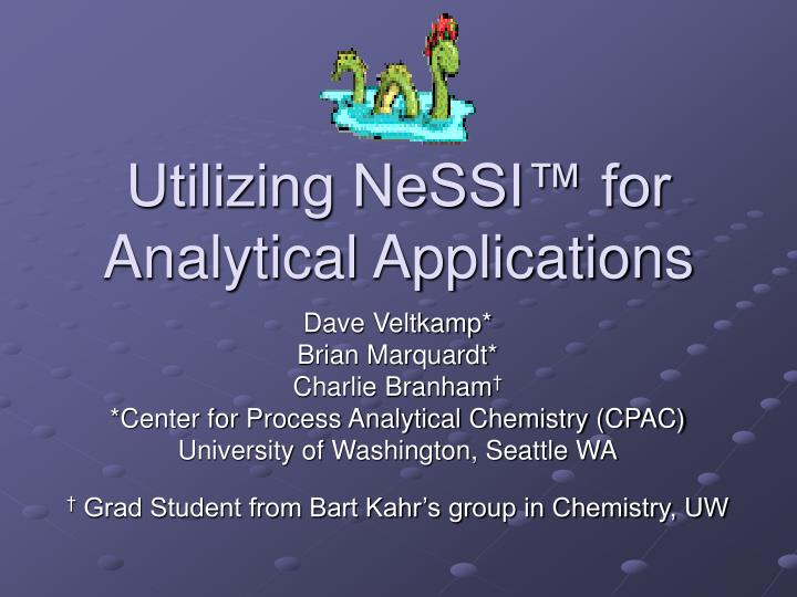 utilizing nessi for analytical applications