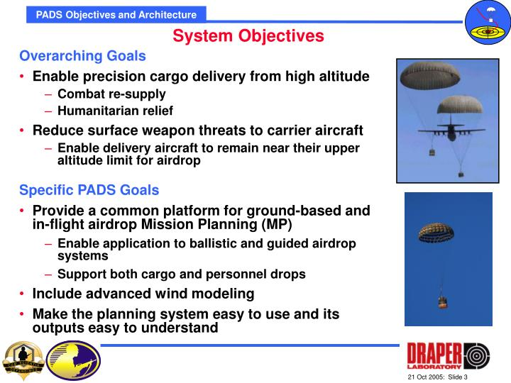 PADS Objectives and Architecture