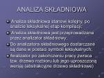 analiza sk adniowa1
