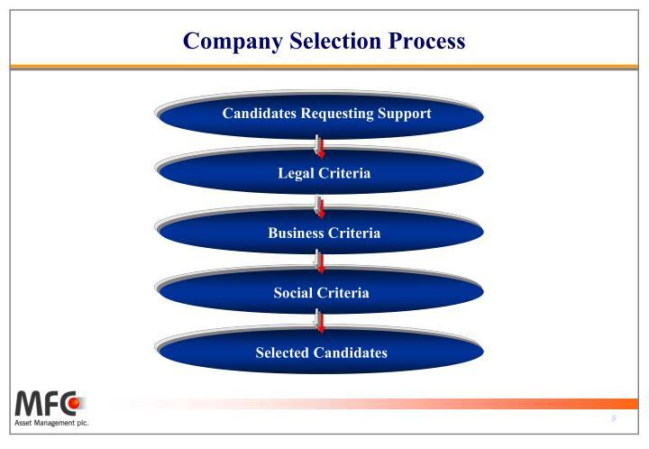 Company Selection Process