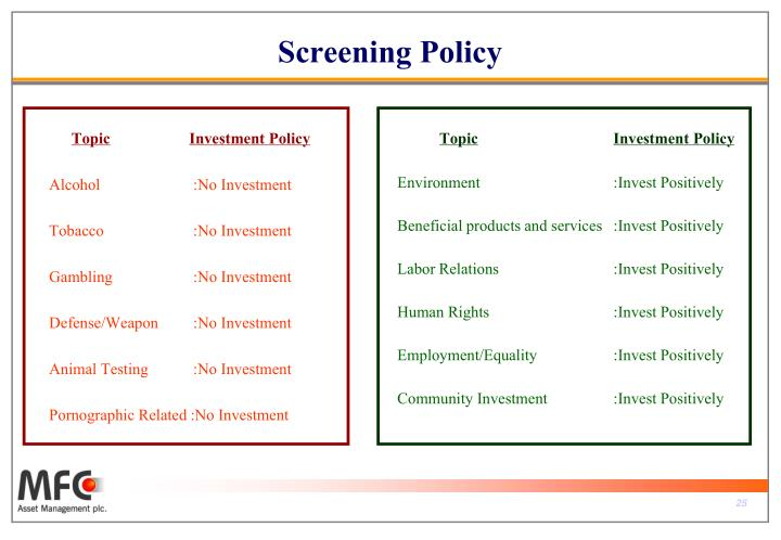 Screening Policy