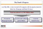 the fund s progress