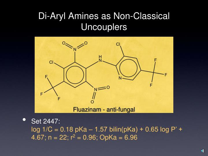 Di-Aryl Amines as Non-Classical Uncouplers