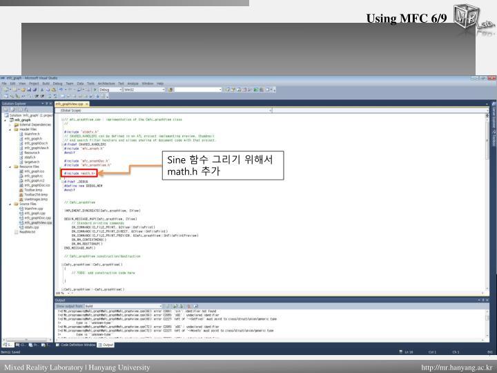 Using MFC 6/9