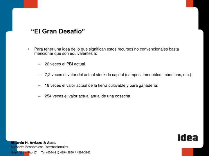 """""""El Gran Desafío"""""""