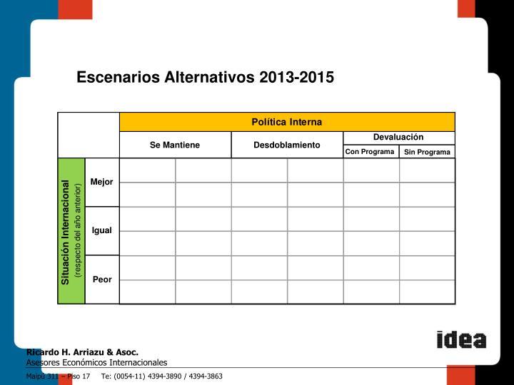 Escenarios Alternativos 2013-2015