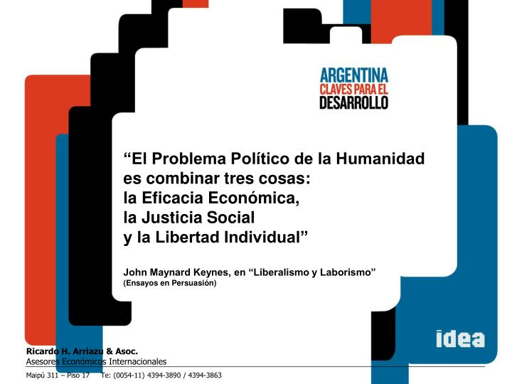 """""""El Problema Político de la Humanidad"""