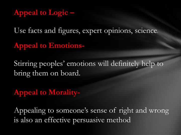 Appeal to Logic –