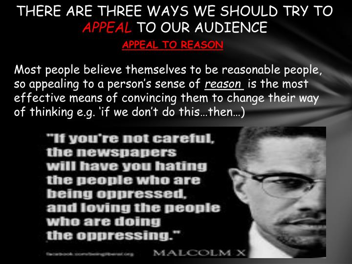 THERE ARE THREE WAYS WE SHOULD TRY TO