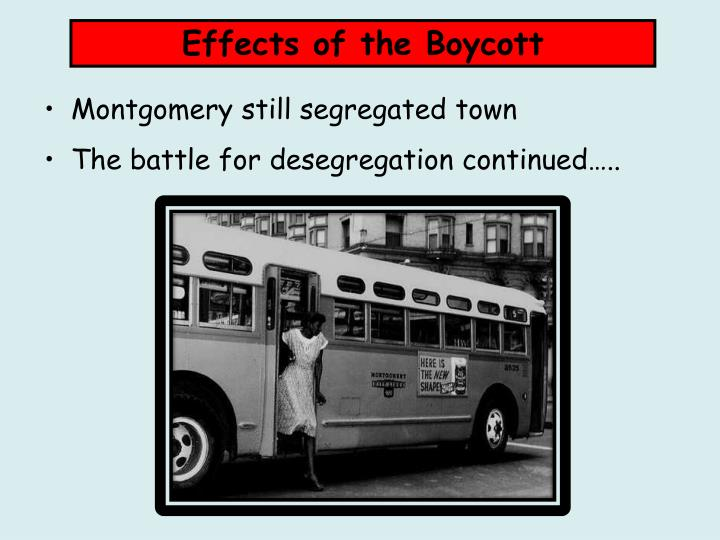 Effects of the Boycott