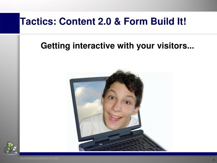 Getting interactive with your visitors...
