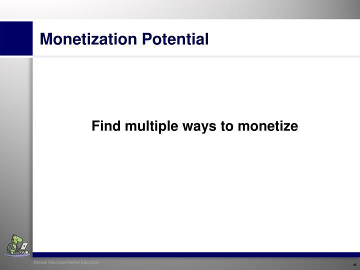 Monetization Potential