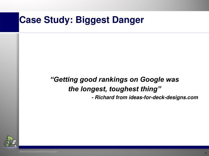 """Getting good rankings on Google was"