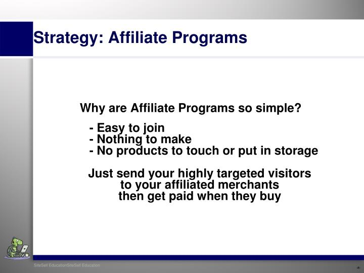 Why are Affiliate Programs so simple?