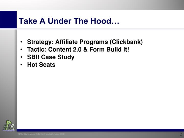 Take A Under The Hood…