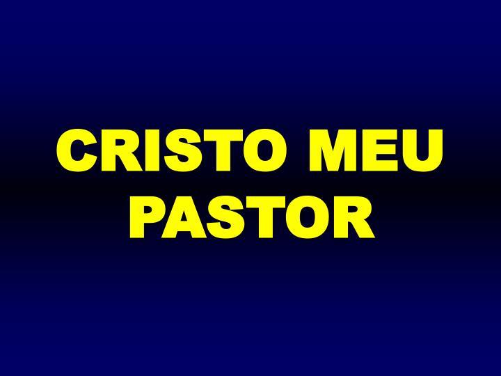 CRISTO MEU PASTOR