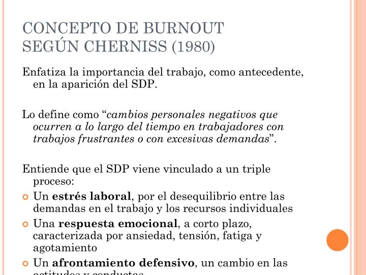 CONCEPTO DE BURNOUT