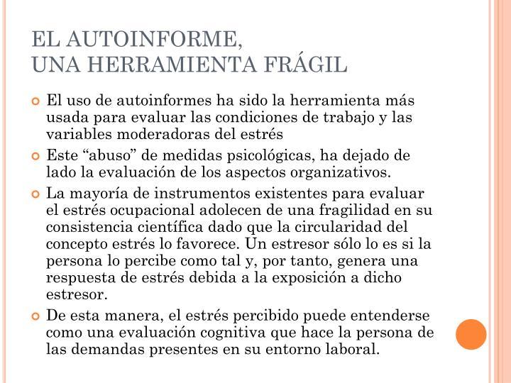 EL AUTOINFORME,