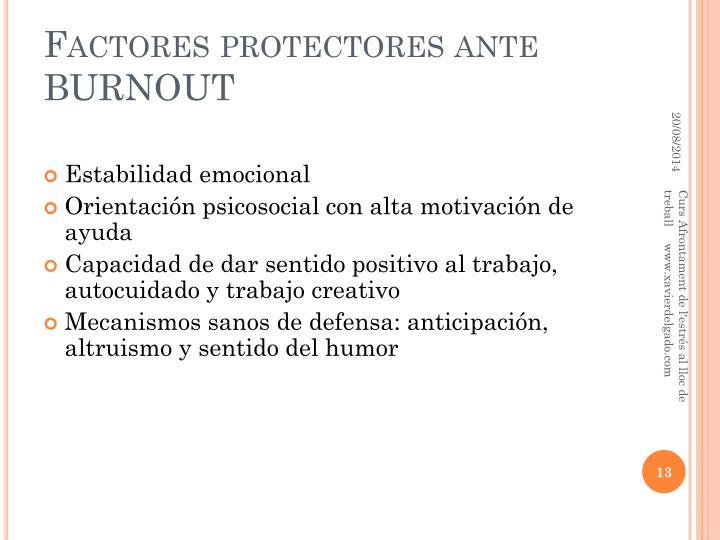 Factores protectores ante