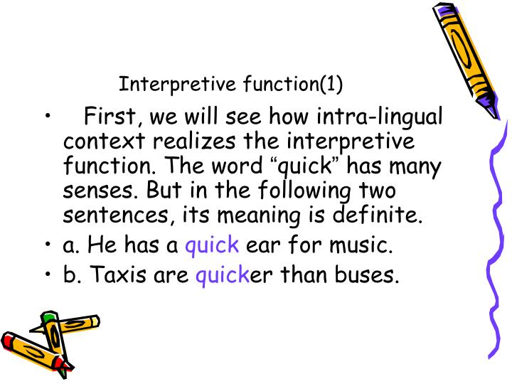 Interpretive function(1)