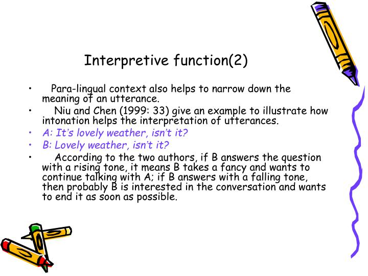 Interpretive function(2)