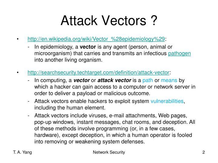 Attack Vectors ?