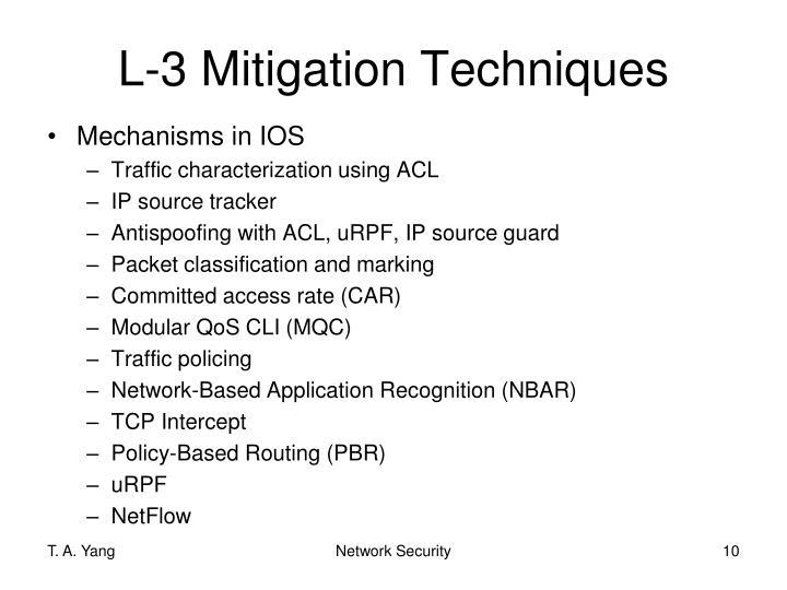 L-3 Mitigation Techniques