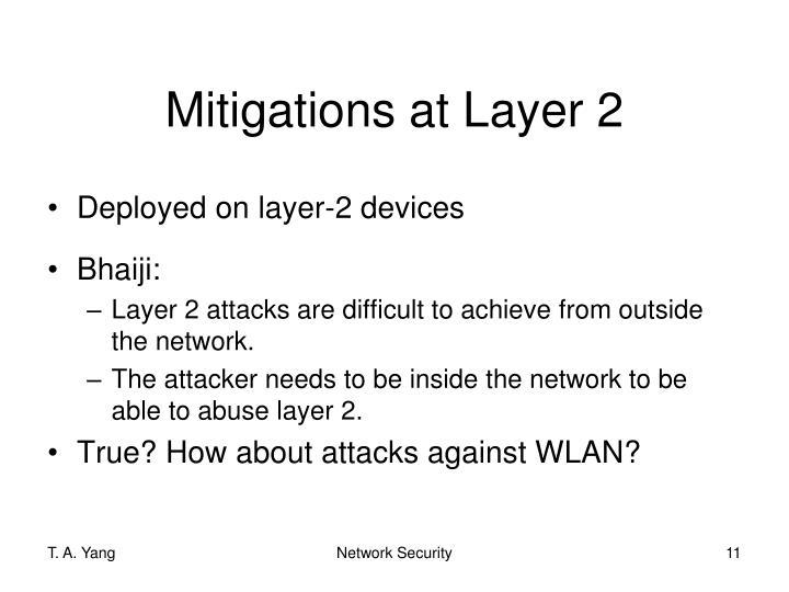 Mitigations at Layer 2