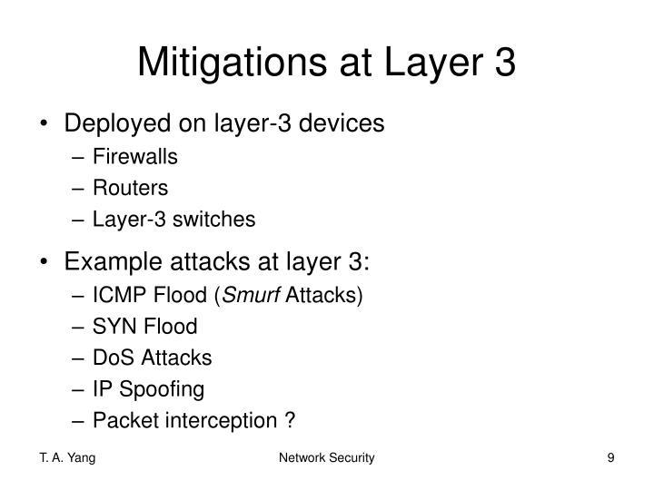 Mitigations at Layer 3