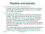 rootkits and botnets