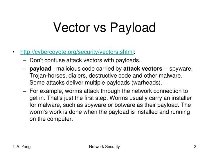 Vector vs Payload