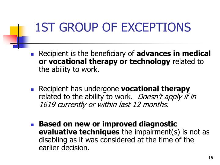 1ST GROUP OF EXCEPTIONS