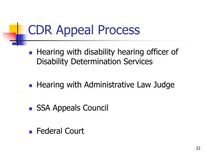 CDR Appeal Process