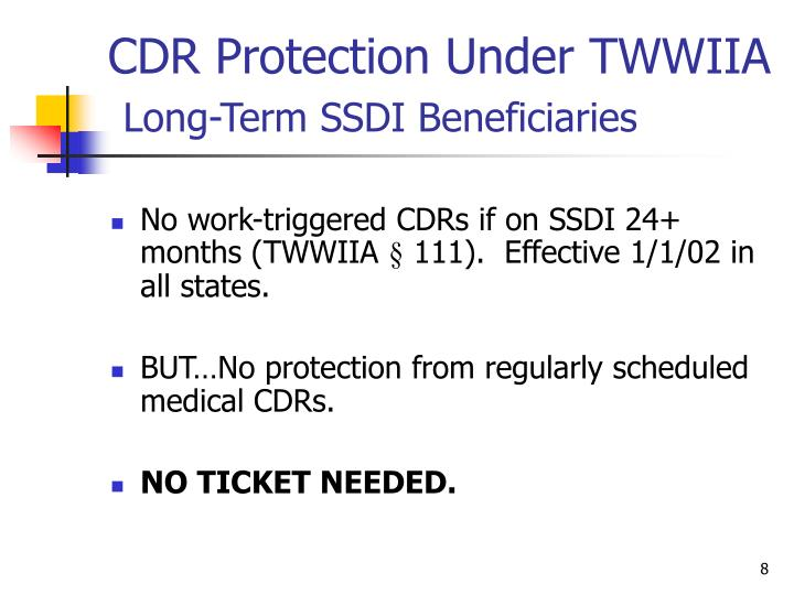 CDR Protection Under TWWIIA