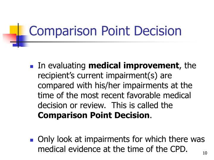 Comparison Point Decision